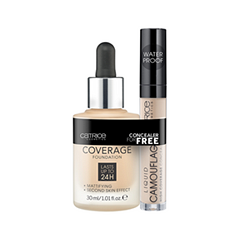 Тональная основа Catrice Набор HD Liquid Coverage Foundation 030 + Liquid Camouflage 020 (Цвет 030 Sand Beige variant_hex_name FCD299)