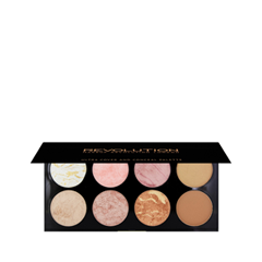 Для лица Makeup Revolution Ultra Blush and Contour Palette Golden Sugar makeup revolution redemption palette iconic 2 тени для век в палетке 12 тонов 13 г