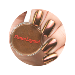 Дизайн ногтей Dance Legend Пигмент Crome Chameleon 04 (Цвет 04 Gold-Bronze variant_hex_name 744C32)