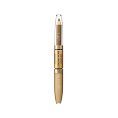 Карандаш для бровей Revlon ColorStay™ Brow Fantasy™ Pencil & Gel 104 (Цвет 104 Dark Blonde variant_hex_name A0815C) карандаш для бровей touch in sol browza super proof gel brow pencil 2 цвет 2 choc it up variant hex name 924900