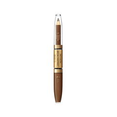 Карандаш для бровей Revlon ColorStay™ Brow Fantasy™ Pencil & Gel 105 (Цвет 105 Brunette variant_hex_name 855C41) карандаш для бровей revlon colorstay™ brow fantasy™ pencil