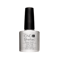 cnd щетка для нанесения кремов cnd Гель-лак для ногтей CND Shellac 032 (Цвет 032 Silver Chrome variant_hex_name 788691)