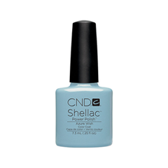 cnd щетка для нанесения кремов cnd Гель-лак для ногтей CND Shellac 055 (Цвет 055 Azure Wish variant_hex_name 64B2C6)
