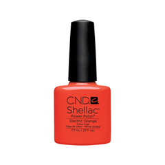 cnd щетка для нанесения кремов cnd Гель-лак для ногтей CND Shellac Paradise Collection 0514 (Цвет 90514 Electric Orange variant_hex_name DD170E)