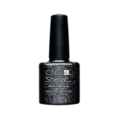 cnd щетка для нанесения кремов cnd Гель-лак для ногтей CND Shellac Starsrtuck 91258 (Цвет 991258 Dark Diamonds variant_hex_name 020001)