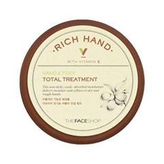 Крем для ног The Face Shop Rich Hand V Hand & Foot Total Treatment (Объем 110 мл) крем для рук lm mini pet hand cream 04 fruity floral 30 мл the face shop