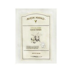 Маска The Face Shop Rich Hand V Special Care Hand Mask (Объем 16 г) the face shop маска для носа jeju volcanic lava peel off clay nose mask объем 50 г