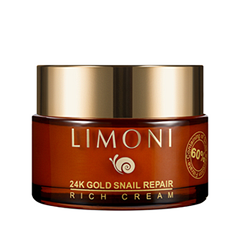 Крем Limoni 24K Gold Snail Repair Rich Cream (Объем 50 мл) крем limoni snail repair rich cream объем 75 мл