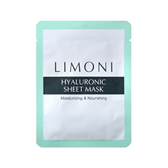Тканевая маска Limoni Hyaluronic Sheet Mask (Объем 20 г) тканевая маска для лица etude house wonder pore black mask sheet