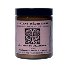 Ароматическая свеча Jardins d'Ecrivains Le jardin de Maupassant - Étretat (Объем 170 г)