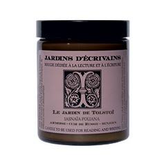 Ароматическая свеча Jardins dEcrivains Le jardin de Tolstoi - Iasnaia Poliana (Объем 170 г)