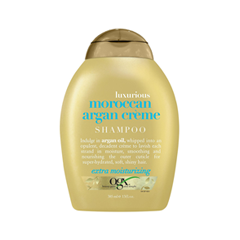 Шампунь OGX Luxurious Moroccan Argan Creme Shampoo (Объем 385 мл) увлажняющий шампунь 400 мл morocco argan oil увлажняющий шампунь 400 мл