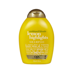 Шампунь OGX Sunkissed Blonde Lemon Highlights Shampoo (Объем 385 мл)