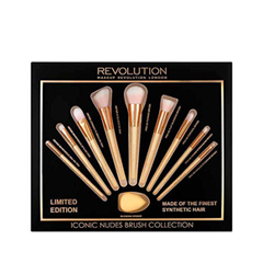 Набор кистей для макияжа Makeup Revolution Iconic Nudes Brush Collection. Limited Edition ecotools набор кистей limited edition anniversary collection