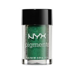 Тени для век NYX Professional Makeup Pigments 14 (Цвет 14 Kryptonite variant_hex_name 20724C) nyx professional makeup рассыпчатые сияющие пигменты pigments go ham 23