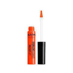 Блеск для губ NYX Professional Makeup Lip Lustre Glossy Tint 08 (Цвет 08 Juicy Peach variant_hex_name FE401E) savannah bee company natural and organic peach blossom shimmer lip tint 0 09 ounce