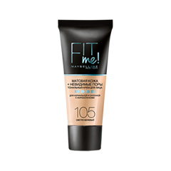 Тональная основа Maybelline New York Fit Me Matte & Poreless Foundation 105 (Цвет 105 variant_hex_name F1D9CD) подарки maybelline new york набор объем 9 5 мл 1 78 мл