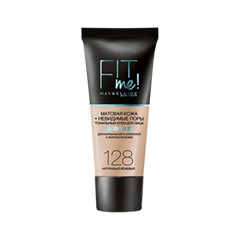 Fit Me Matte & Poreless Foundation 128 (Цвет 128 variant_hex_name F7CFAB)
