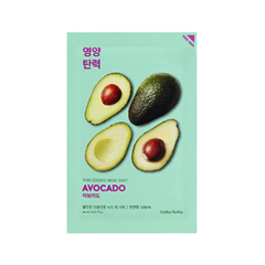 Тканевая маска Holika Holika Pure Essence Mask Sheet Avocado (Объем 20 мл) осветляющая тканевая маска pure essence mask sheet pearl holika holika