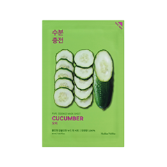 Тканевая маска Holika Holika Pure Essence Mask Sheet Cucumber (Объем 20 мл) осветляющая тканевая маска pure essence mask sheet pearl holika holika