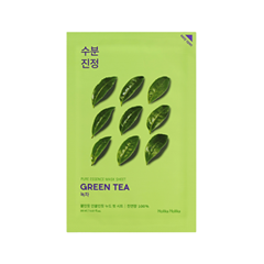 Тканевая маска Holika Holika Pure Essence Mask Sheet Green Tea (Объем 20 мл) осветляющая тканевая маска pure essence mask sheet pearl holika holika