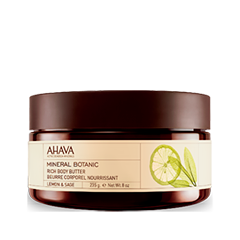 Масло Ahava Mineral Botanic Rich Body Butter Lemon  Sage (Объем 235 г)