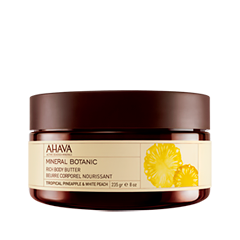 Масло Ahava Mineral Botanic Rich Body Butter Tropical Pineapple & White Peach (Объем 235 г) масло ahava mineral botanic rich body butter lotus