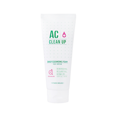 Пенка Etude House AC Clean Up Daily Cleansing Foam (Объем 150 мл) пенка the face shop green tea phyto powder cleansing foam объем 170 мл
