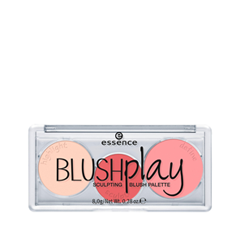 Румяна essence Blush Рlay Sculpting Blush Palette 10 (Цвет 10 Play It Peach  variant_hex_name E96367) палетки essence live laugh celebrate palette 8