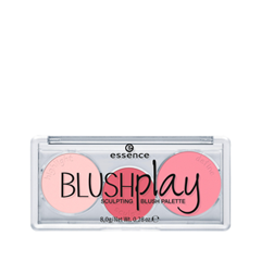 Румяна essence Blush Рlay Sculpting Blush Palette 20 (Цвет 20 Play It Pink  variant_hex_name FD94A3) палетки essence live laugh celebrate palette 8