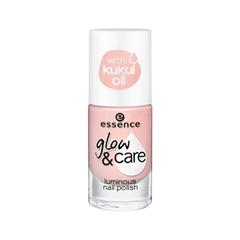 Лак для ногтей essence Glow  Care Luminous Nail Polish 01 (Цвет 01 Care Is In The Air  variant_hex_name FAD0C5)