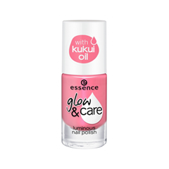 Лак для ногтей essence Glow  Care Luminous Nail Polish 04 (Цвет 04 Happy Girls Shine Brighter  variant_hex_name ED6D8E)
