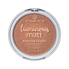 Бронзатор essence Luminous Matt Bronzing Powder 02 (Цвет 02 Sunglow variant_hex_name B77B63) подводка essence liquid ink eyeliner 02 цвет 02 bronzy