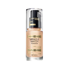 Тональная основа Max Factor Miracle Match Foundation Blur  Nourish 40 (Цвет 40 Light Ivory variant_hex_name E2D2C3 Вес 20.00)