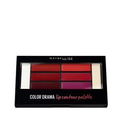 Для губ Maybelline New York Color Drama Lip Contour Palette 01 (Цвет 01 Crimson Vixen variant_hex_name D70728) makeup base color corrector contour cream concealer palette