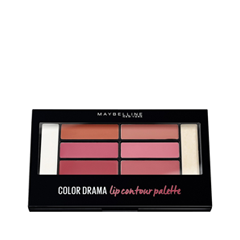 Для губ Maybelline New York Color Drama Lip Contour Palette 02 (Цвет 02 Blushed Bombshell variant_hex_name CA596E) тени maybelline палетка теней 01 blushed nudes maybelline