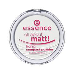 Пудра essence All About Matt! Fixing Compact Powder (Цвет Transparent variant_hex_name E8E7E4) пудра essence mattifying compact powder 04 цвет 04 perfect beige variant hex name facfbb