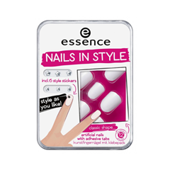essence Накладные ногти Nails In Style 01 (Цвет 01 The White It-Piece  variant_hex_name DCDBE0)