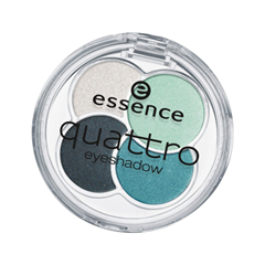 Тени для век essence Quattro Eyeshadow 13 (Цвет  13 Laugh, Love, Lime  variant_hex_name 438894) тени для век essence live laugh celebrate eyeshadow 07 цвет 07 the sun is shining variant hex name d6ac7a