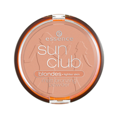 Бронзатор essence Sun Club Matt Bronzing Powder 01 (Цвет 01 Sunkissed  variant_hex_name FAAB90)