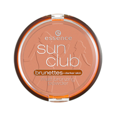 Sun Club Matt Bronzing Powder 02 (Цвет 02 Suntanned variant_hex_name FB9C7D)