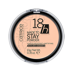 Пудра Catrice 18h Made To Stay Powder 015 (Цвет 015 Vanilla Beige variant_hex_name FBC9AA) хайлайтер catrice highlighting powder 015 цвет 015 merry cherry blossom variant hex name e7a5ab