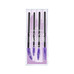 Аксессуары essence Набор щеточек для туши Style Your Lashes! Mascara Brush Set 02 (Цвет 02 Lash Up Your Way! variant_hex_name C49EC9) essence тушь для ресниц the false lashes mascara extreme volume