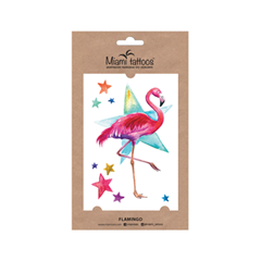 Переводные тату Miami Tattoos Акварельные переводные тату Flamingo flash tattoos sheebani authentic metallic temporary tattoos
