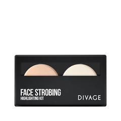 Для лица Divage Палетка для стробинга Face Strobing набор 331 кисть кабуки professional line палетка face strobing eyelash