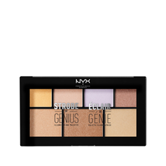 Для лица NYX Professional Makeup Strobe of Genius Illuminating Palette nyx professional makeup рассыпчатые сияющие пигменты pigments go ham 23