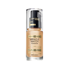 Тональная основа Max Factor Miracle Match Foundation Blur  Nourish 45 (Цвет 45 Warm Almond variant_hex_name D9B078 Вес 20.00)