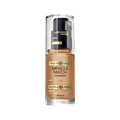 Тональная основа Max Factor Miracle Match Foundation Blur  Nourish 80 (Цвет 80 Bronze  variant_hex_name C48E62 Вес 20.00)