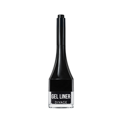 Подводка Divage Gel Eyeliner 01 (Цвет 01 variant_hex_name 000000) hengfang 52135 princess style water resistant eyeliner gel w brush black