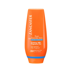 Защита от солнца Lancaster Sun Delicate Skin Soothing Milk Progressive Tan SPF50 (Объем 125 мл)